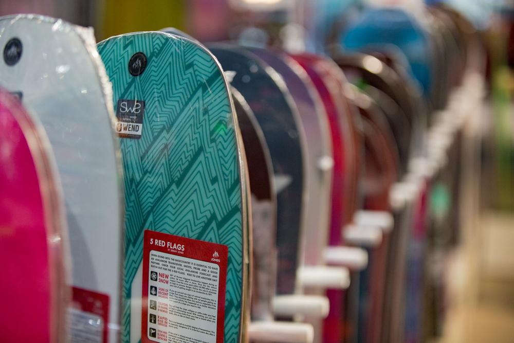 elección tabla de snowboard