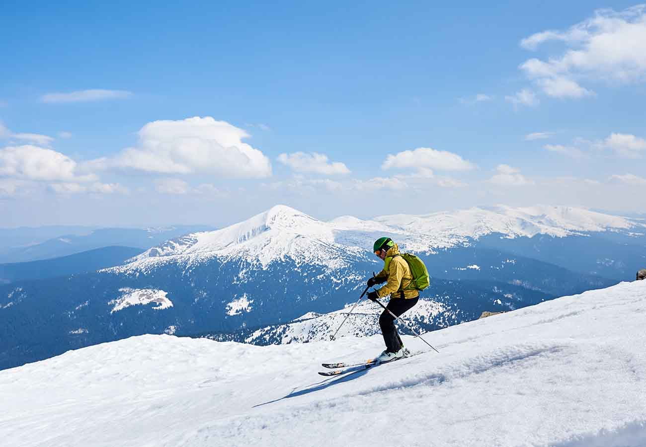 historia del esquí para niños
