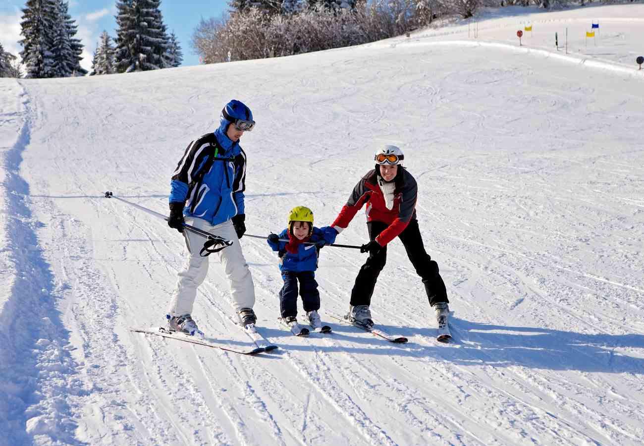 destinos de nieve para niños